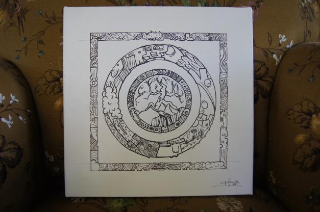 Circle and Square mandala by MuscularTeeth.